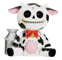 Moo Moo Cow Furry Bones Skellies Figurine