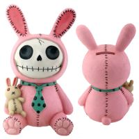 Pink Bun-Bun Furry Bones Skellies Money Bank