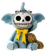 Elefun Elephant Furry Bones Skellies Figurine