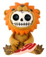 Raion Lion Furry Bones Skellies Figurine