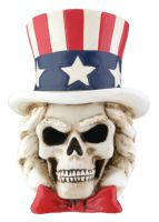 Uncle Sam Skull Figurine