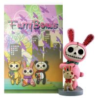 Pink Bun Bun Furry Bones Skellies Picture Frame