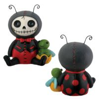 Dots Ladybug Furry Bones Skellies Figurine