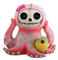 Octopee Octopus Furry Bones Skellies Figurine