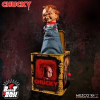 Mezco Scarred Chucky Burst a Box 14 inch Bride of Chucky