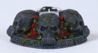 Skull Rose Candle Holder