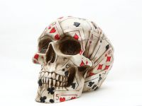 Poker Skull Skeleton Box