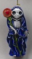Saint Skelly Skeleton Ornament