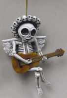 Choir Skelly Skeleton Ornament