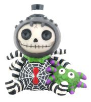Webster Spider Furry Bones Skellies Figurine