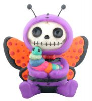 Flutters Butterfly Furry Bones Skellies Figurine