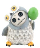 Snowy Owl Furry Bones Skellies Figurine