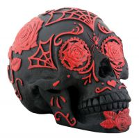 DOD Red and Black Sugar Skull