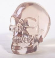Large Spooky Translucent Crystal Skull
