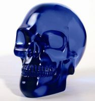 Large Blue Crystal Skull