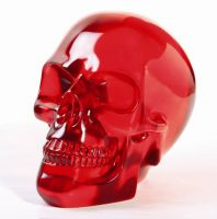Large Red Crystal Skull