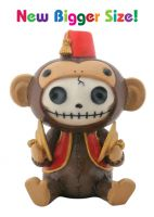 Fez Munky Furry Bones Skellies Medium Figurine