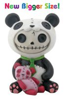 Pandie Panda Furry Bones Skellies Medium Figurine
