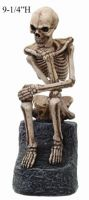 Thinker Skeleton Figurine