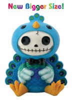 Peacock Dandy Furry Bones Skellies Medium Figurine