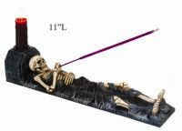 Skeleton Incense Burner w Holder