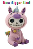 Unie Unicorn Furry Bones Skellies Medium Figurine