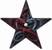 Dragons Pentagram Plaque by Anne Stokes