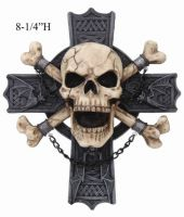 Skull and Cross Bones HellRider Wall Plaque