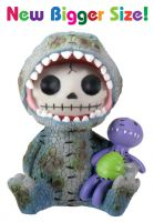 Rex Dinosaur Furry Bones Skellies Medium Figurine