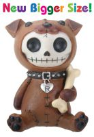 Rocky the Dog Furry Bones Skellies Medium Figurine