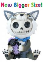 Wolfgang Wolf Furry Bones Skellies Medium Figurine