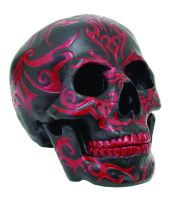 Black and Red Tribal Skull