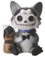 Bandit Racoon Furry Bones Skellies Figurine