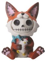 Fen Fox Furry Bones Skellies Figurine