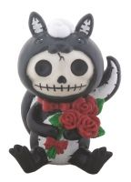 Odo Skunk Furry Bones Skellies Figurine