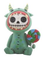 Mogu Underbedz Furry Bones Skellies Figurine