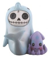 Sonar Dolphin Furry Bones Skellies Figurine