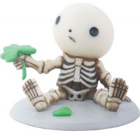 Lucky Ruins a Four Leaf Clover Skellies Figurine