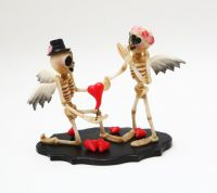 Adorable Skellies Proposal Figurine