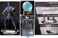 "Mortal Combat Sub Zero 3 3/4"" Action Figure Mezco *SLIGHTLY DENTED BOX*"
