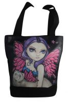 Ferret W Wings Fairy Hand Bag Tote