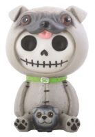 Pugsly Pug Furry Bones Skellies Figurine