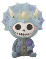 Spike Triceratops Furry Bones Skellies Figurine