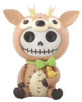 John Reindeer Furry Bones Skellies Figurine