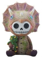 Spike Triceratops Dinosaur Furry Bones Skellies Medium Figurine
