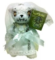 Teddy Scares Annabelle Wraithia Wedding Chain Plush Bear