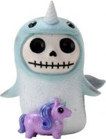Whally Narwhal Furry Bones Skellies Figurine