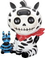 Zeebie Zebra Furry Bones Skellies Figurine