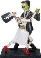 Frankenskull and Bride Dancing Figurine