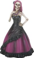 Day of the Dead Pinkish Purple Lady Skeleton Figurine